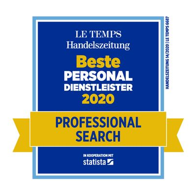 Bester Personaldienstleister 2020 Professional Search