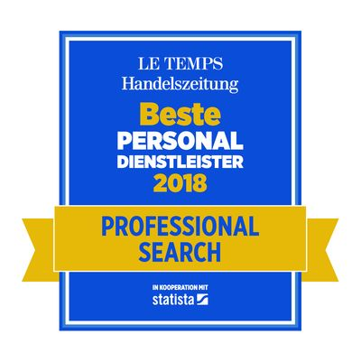 Bester Personaldienstleister 2018 Professional Search